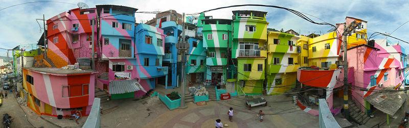 favela pikturë Rio de Janeiro Praça_Cantão