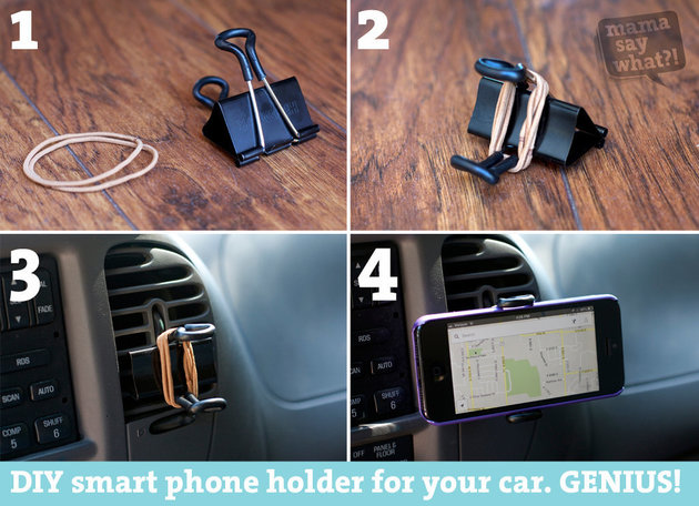 Use Binder Clips To Make your DIY Smartphone GPS holder