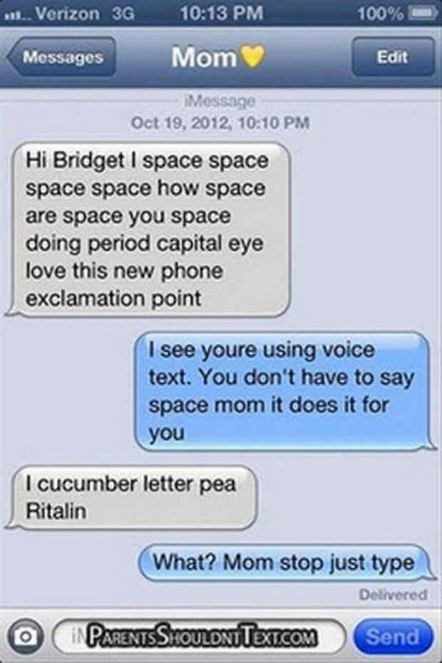 Space Space | Funniest Text Messages between Parents and Children