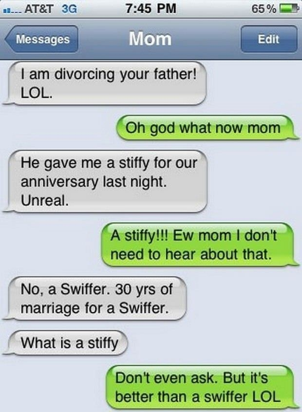 Swiffer | Hilarious Text Messages between Parents and Children
