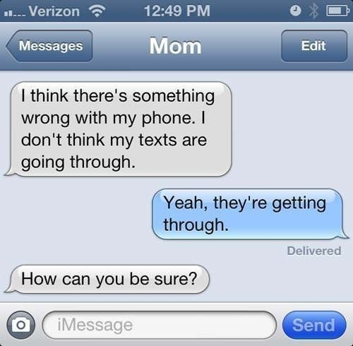 Texts Not going through | Hilarious Text Messages between Parents and Children