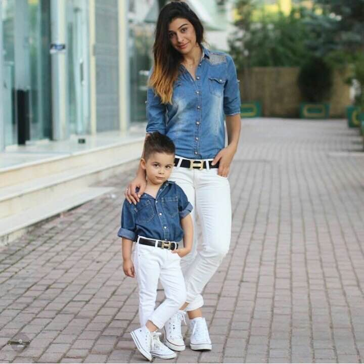 Cute Mother Son Outfit Ideas 2
