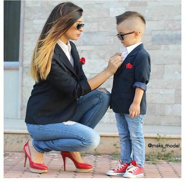 Cute Mother Son Outfit Ideas 3