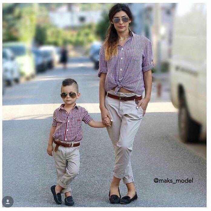 Cute Mother Son Outfit Ideas 4