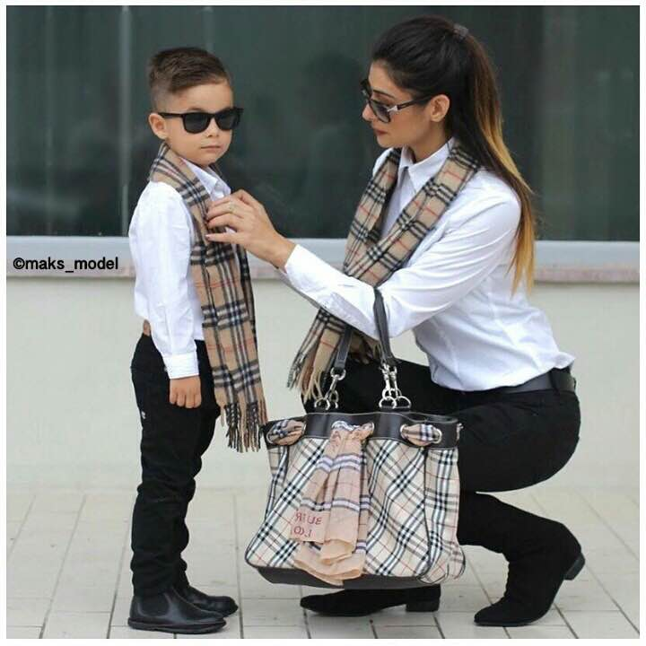 Cute Mother Son Outfit Ideas 8