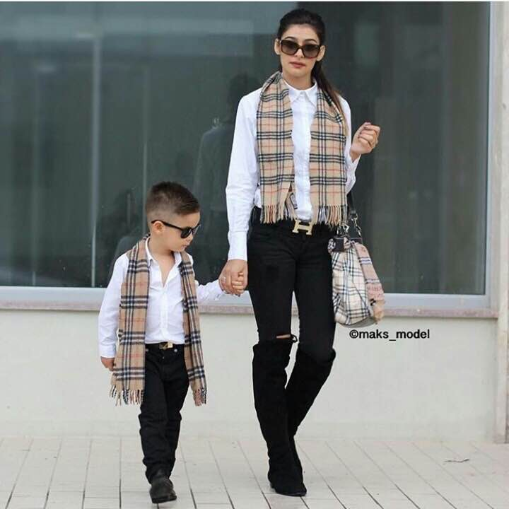 Cute Mother Son Outfit Ideas 9