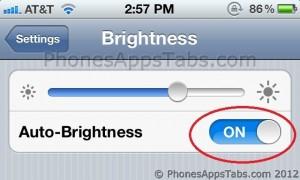 Turn Auto Brightness ON
