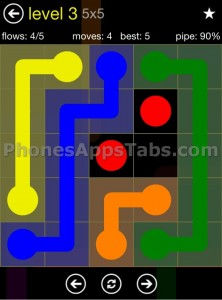 Flow Free App Cheats 5x5 level 3