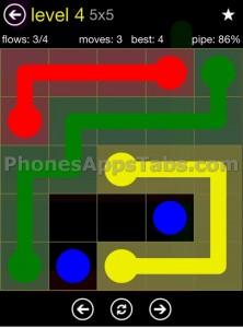 Flow Free 5x5 level 4