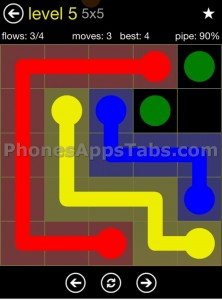 Flow Free 5x5 level 5