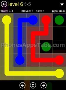 Flow Free 5x5 level 6
