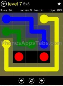 Flow Free 5x5 level 7