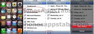 Delete Safari History iPad and iPhone 2