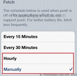 Fetch Emails less often