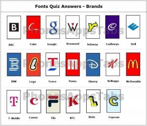 Font Quiz Answers