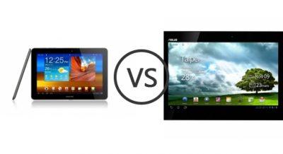 Galaxy Tab vs Asus Transformer Prime