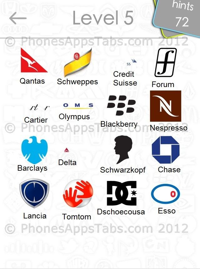 Logo Quiz Game Answers Level 5 Logos Game