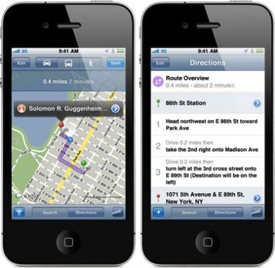 Get Directions with Siri