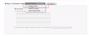 Backup iPhone Contacts to Google/Gmail