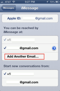 Email Address iMessage