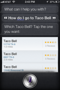 Search Location Siri