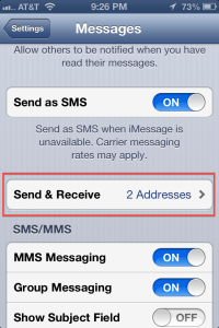 Send and Receive iMessage
