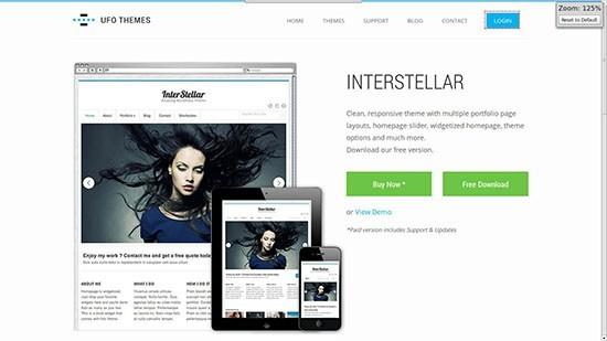 InterSteller WordPress Theme