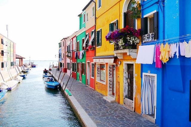 Burano in Italy