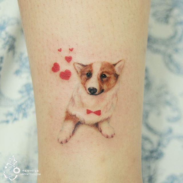 Pet Love Tattoo by a tattooist Silo from Korea