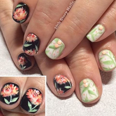 Flirty Florals | Nail designs fro spring