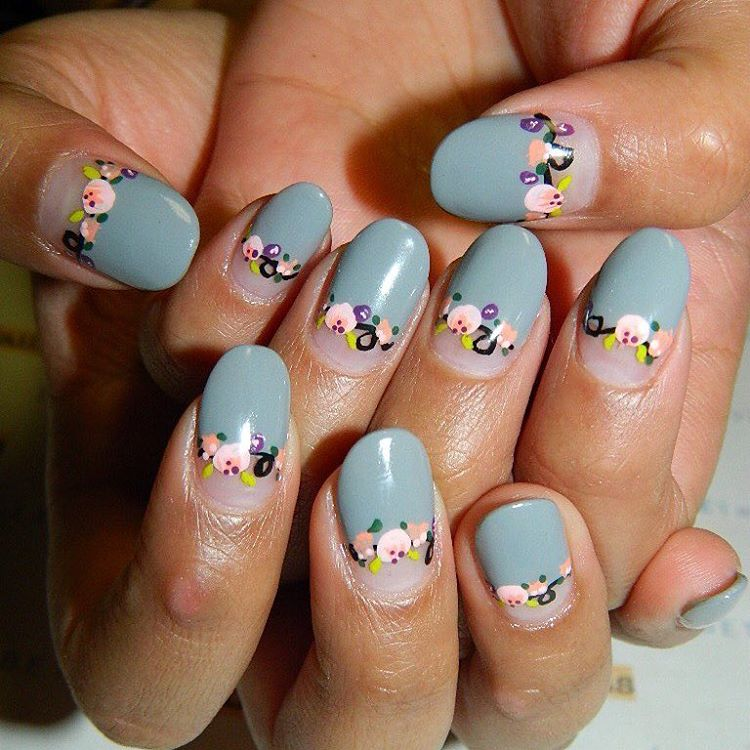 Little Flowers | Floral Nail Art designs for spring