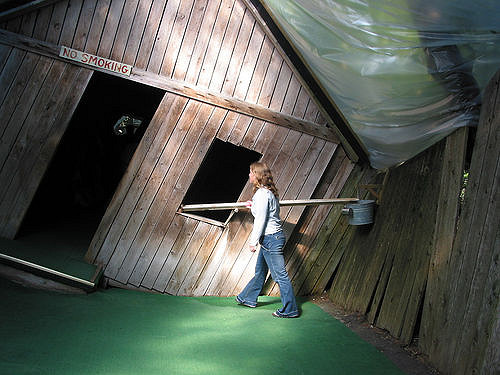 The World Famous Tourist Attraction - Mystery Spot, St. Ignace, Michigan.