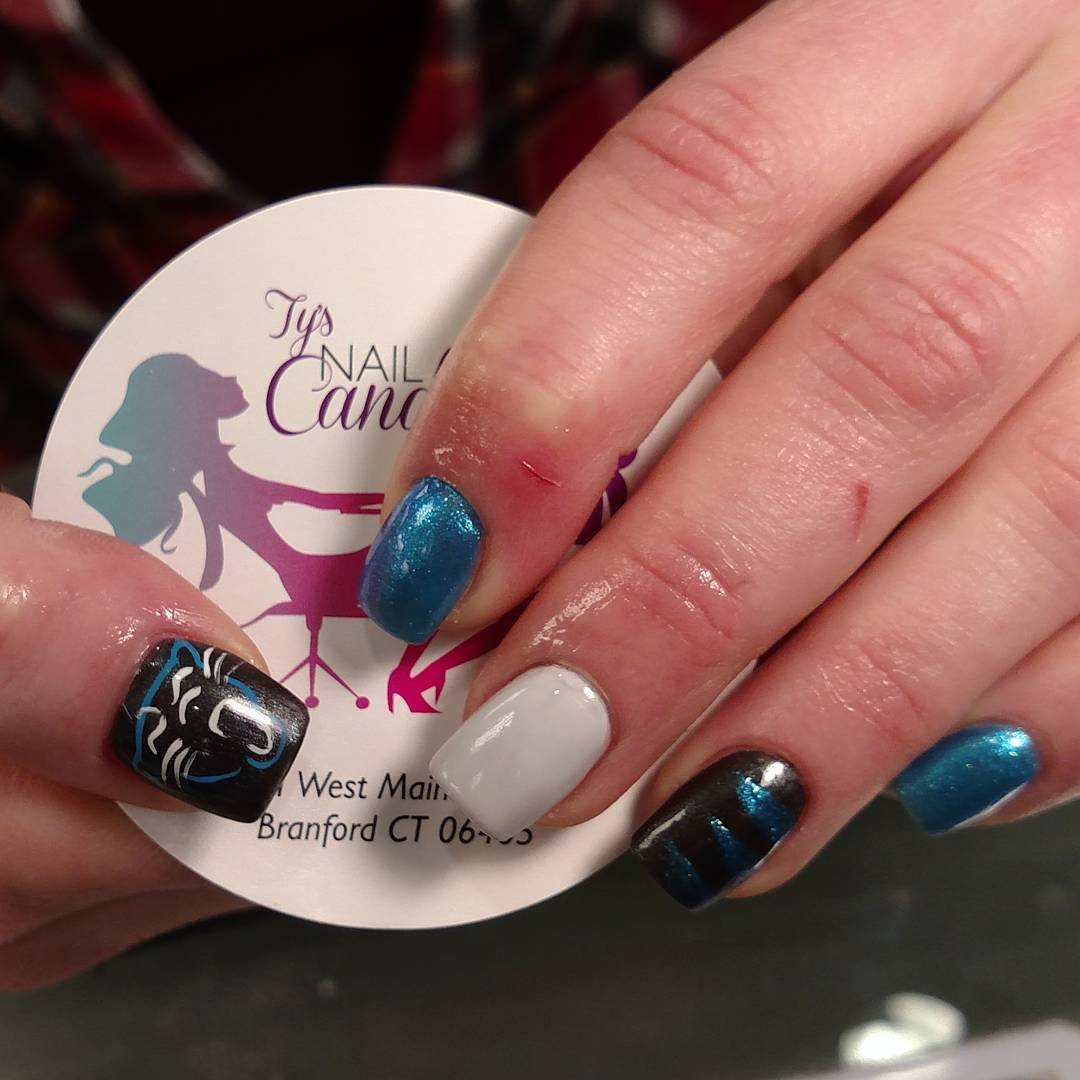 Carolina Panther Nation Nails