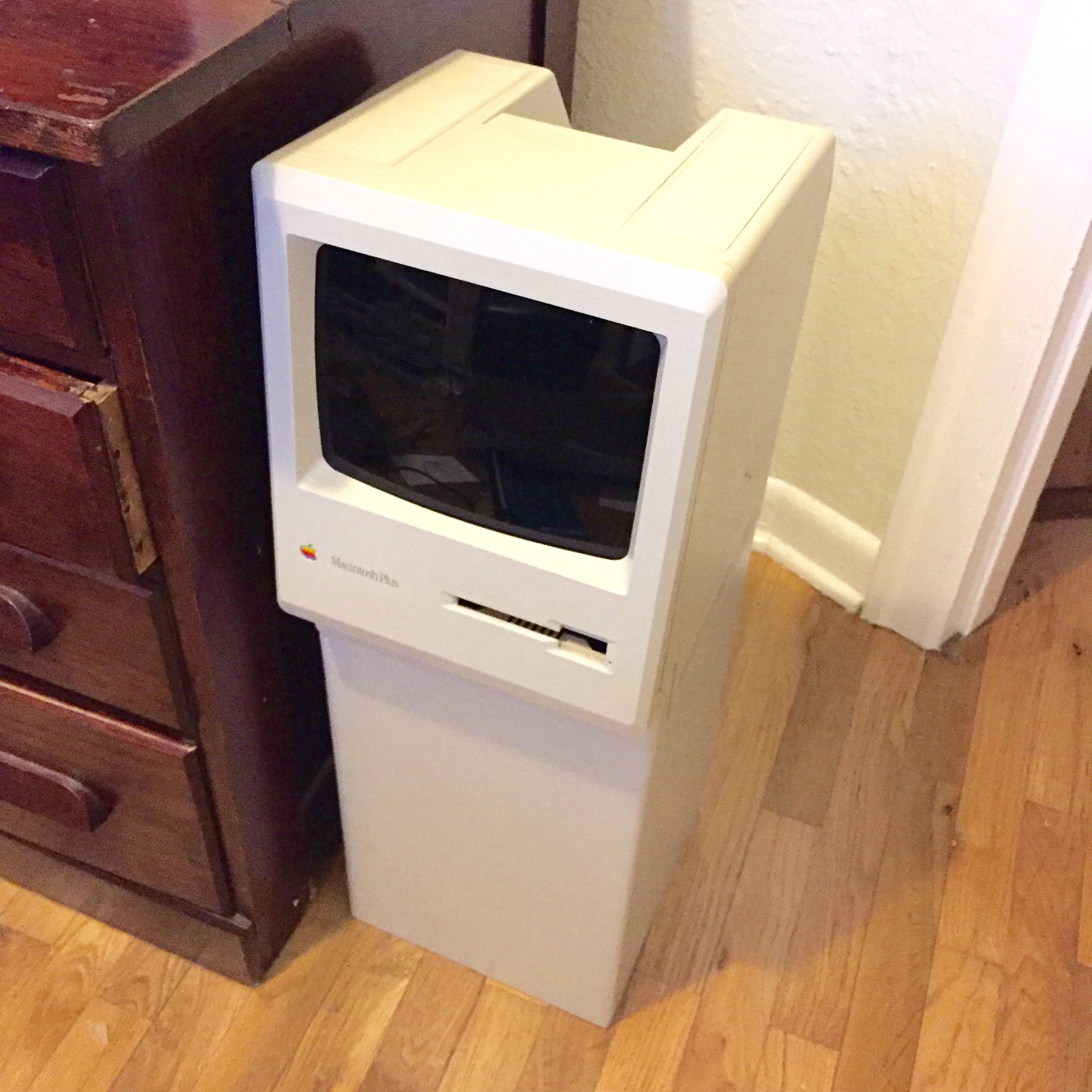 Classic Mac Turned Into A Trash Can