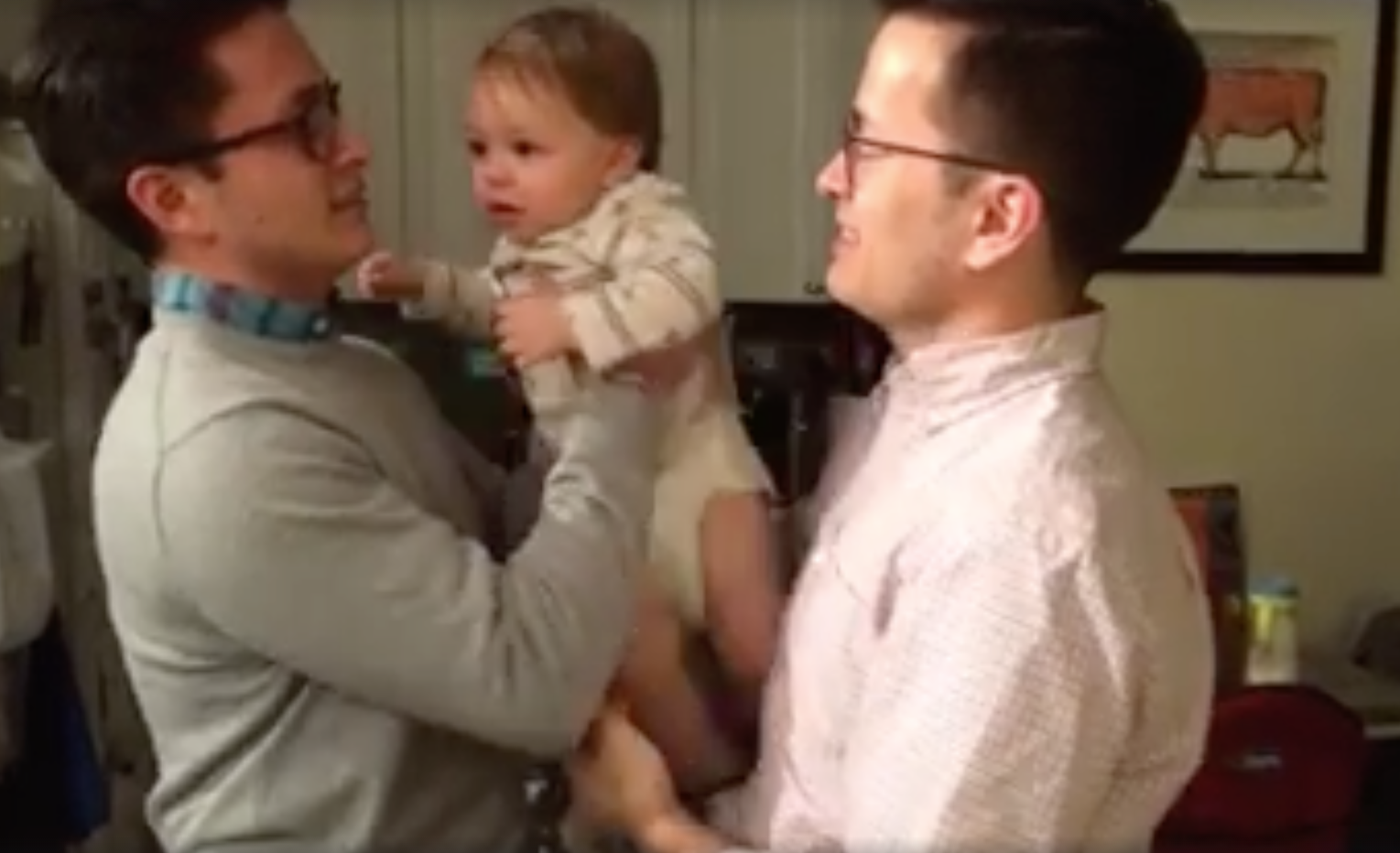 Baby Meets Dad's Identical Twin