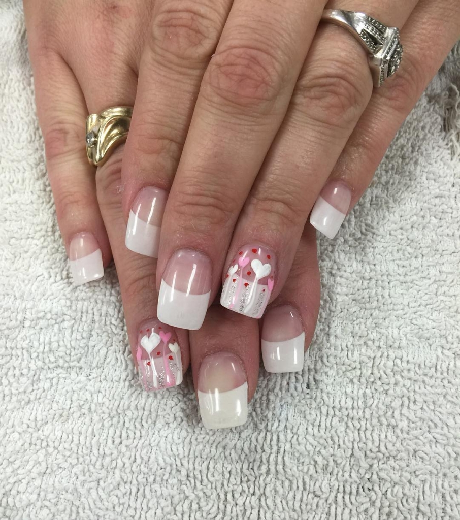 Flying hearts | Valentine's Day Nail Art Design