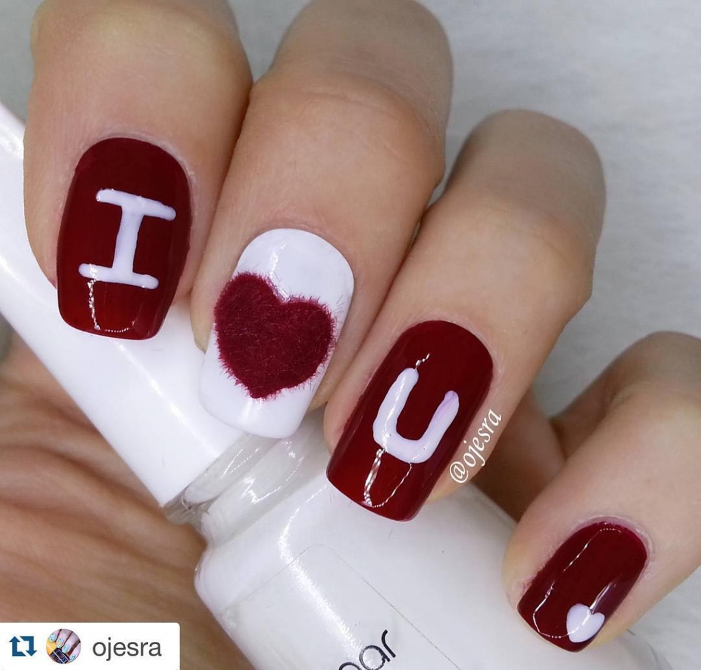 I Love You | Valentine's Day Nail Art Design