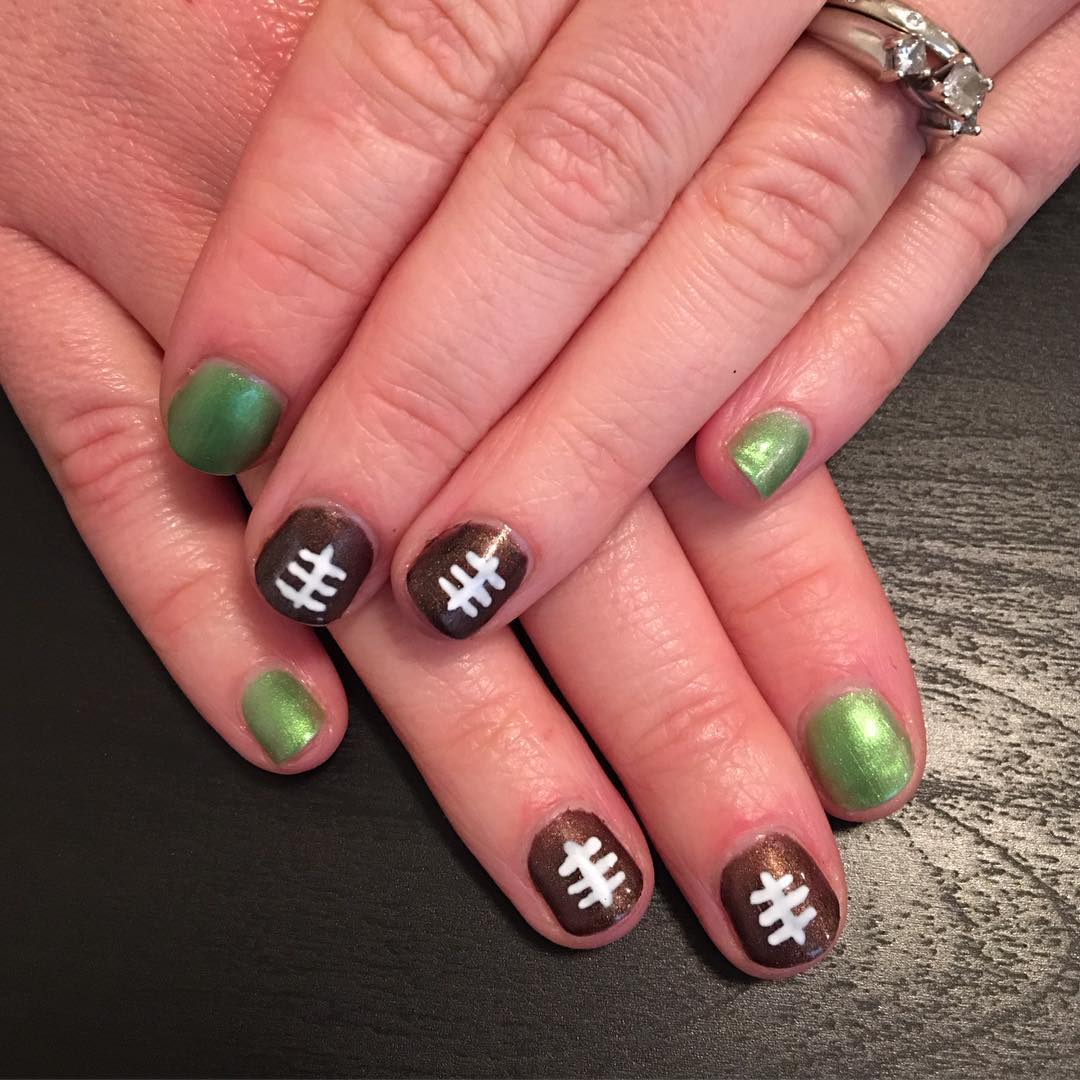 Cute Super Bowl 2016 Nails