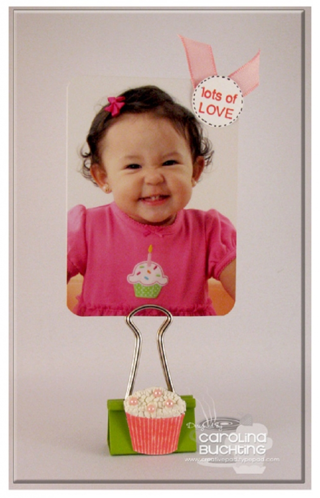 Photo Holder with Binder Clip