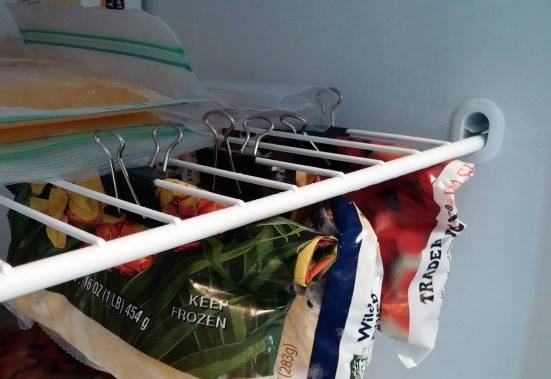 Store Freezer Bags Use Binder Clip