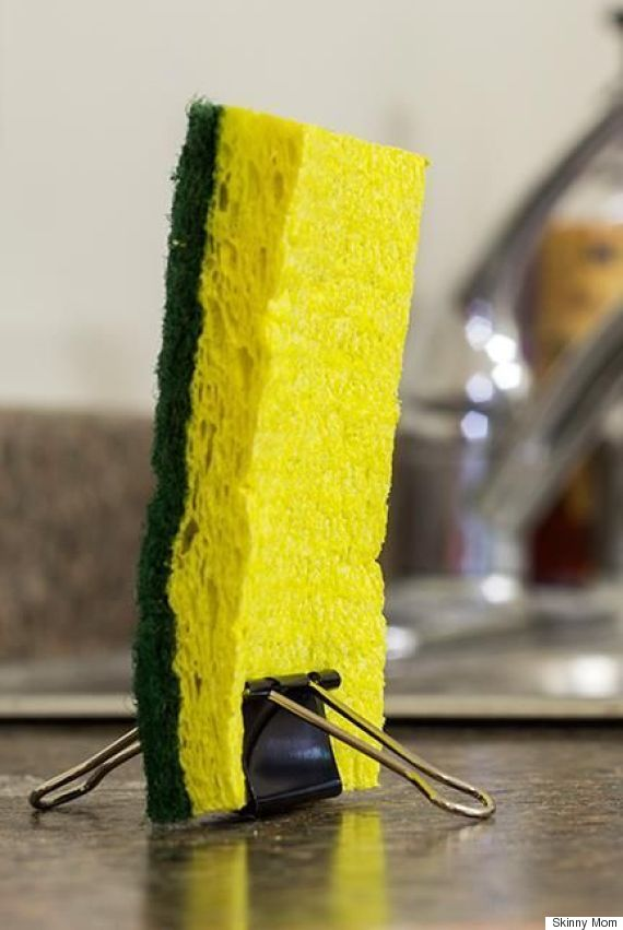 Keep Kitchen Sponge Upright