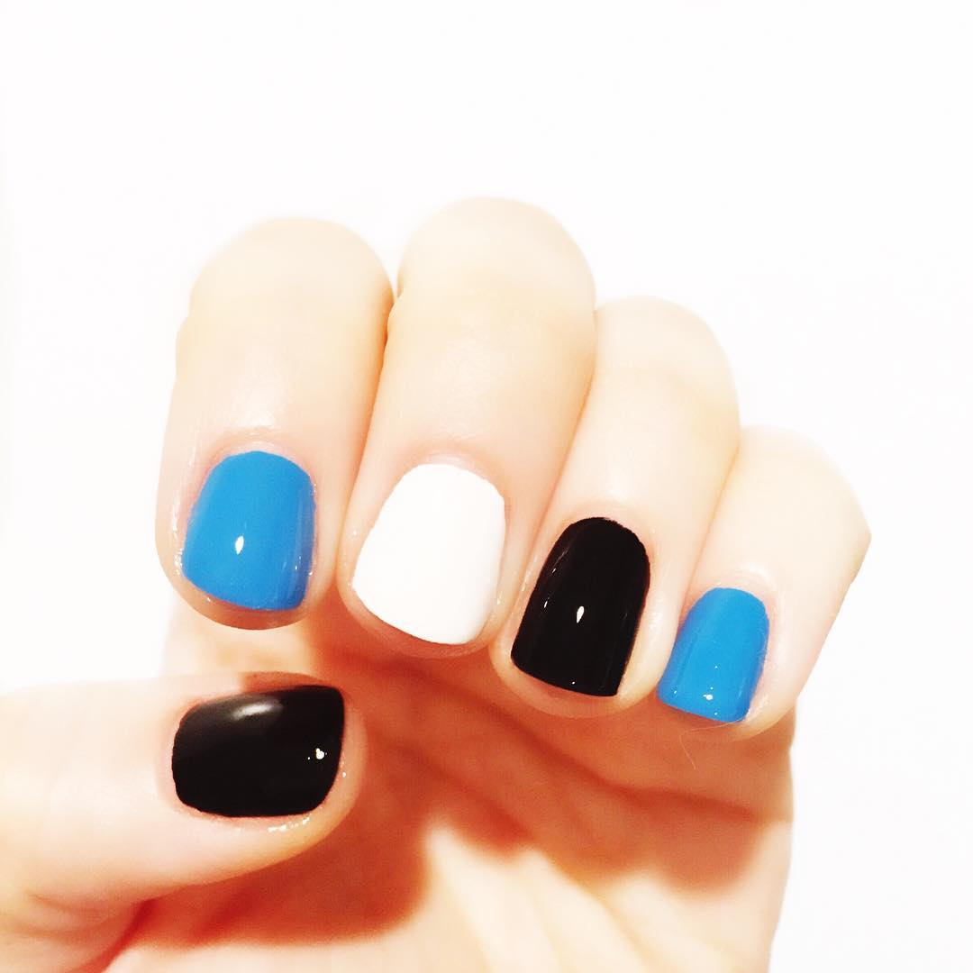 Very Minimal Panther Nation Nail Art