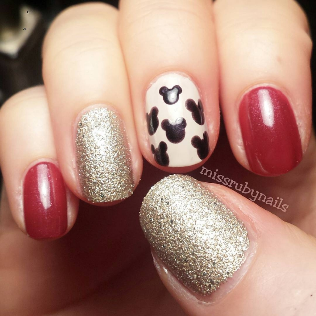 Mickey Mouse Nails   Textured Nails For this Spring