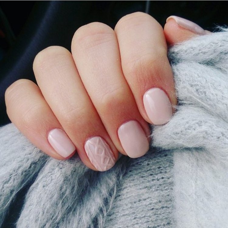 Cable Knit Nails |Textured Nails For this Spring