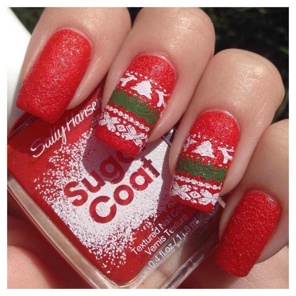 Christmas Sweater | Textured Nails For Festive Season