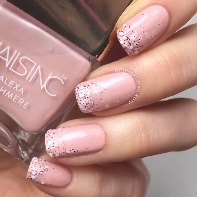 Rosy Snowflakes | Textured Nails For this Spring