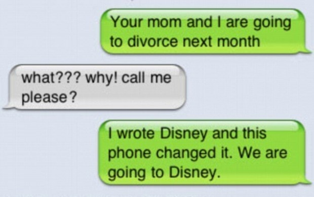 Going to Disney | Funniest Text Messages between Parents and Children