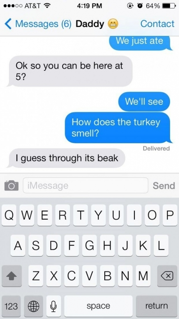 How does the turkey smell