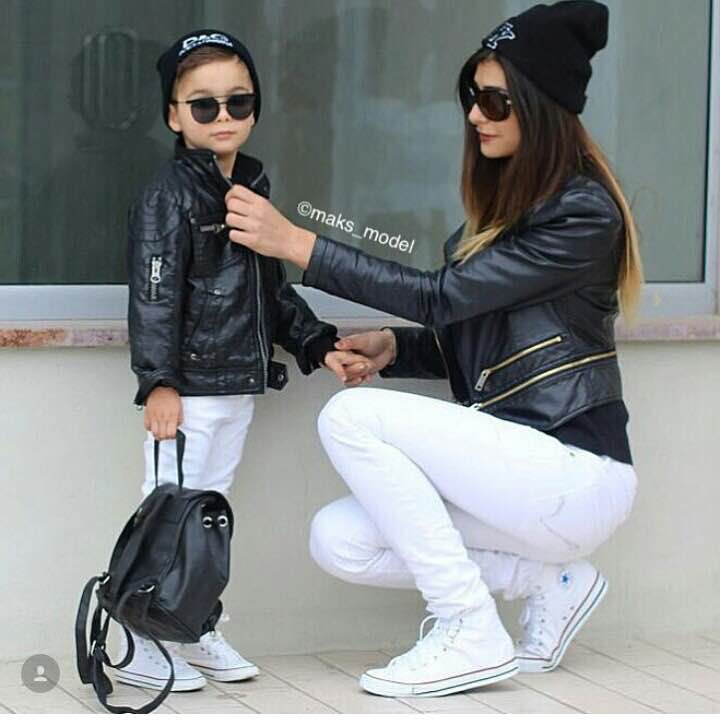 Cute Mother Son Outfit Ideas 11