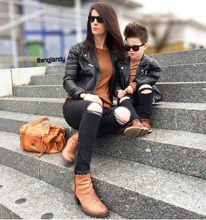 Cute Mother Son Outfit Ideas 14